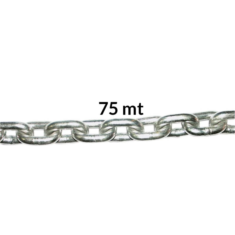 calibrated stainless steel chain 75mt ø mm.8