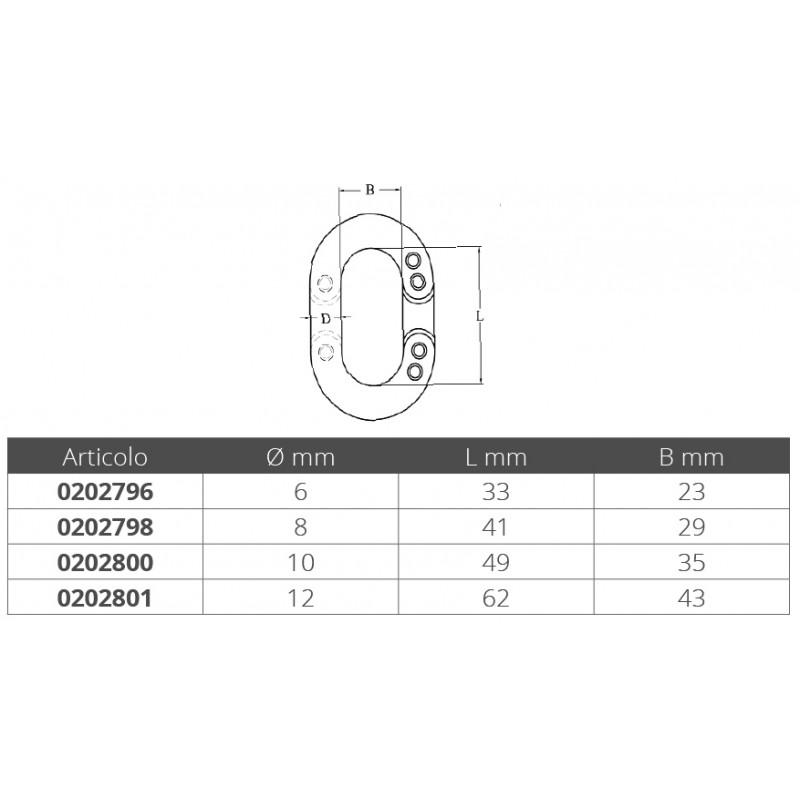 Falsa malla Inox 10mm Alta resistencia