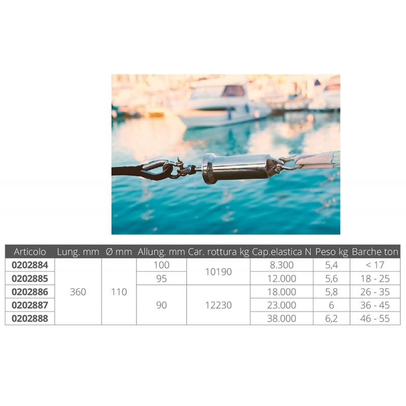 Amortiguadores de Amarre de acero inoxidable para barcos de 46 a 55 toneladas