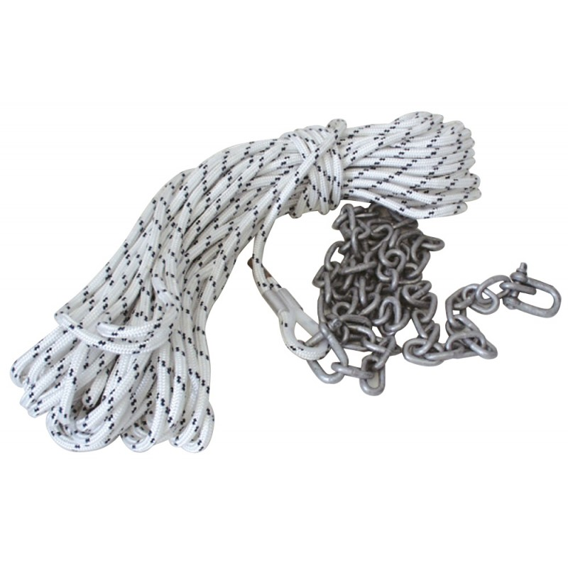 Anchor line 50mt - 10mm with 6mm galv chain 2mt
