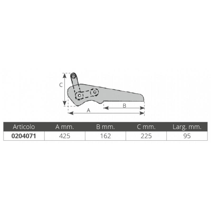 Roldana de Proa Basculante en Aluminio 425 x 95 mm