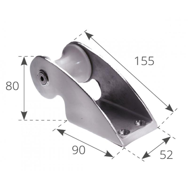 Puntera de Proa inox Fija 155 x 52 mm