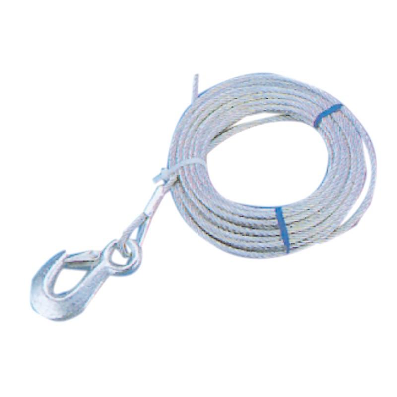 Cable Cabrestante 5 mm 6mt con gancho