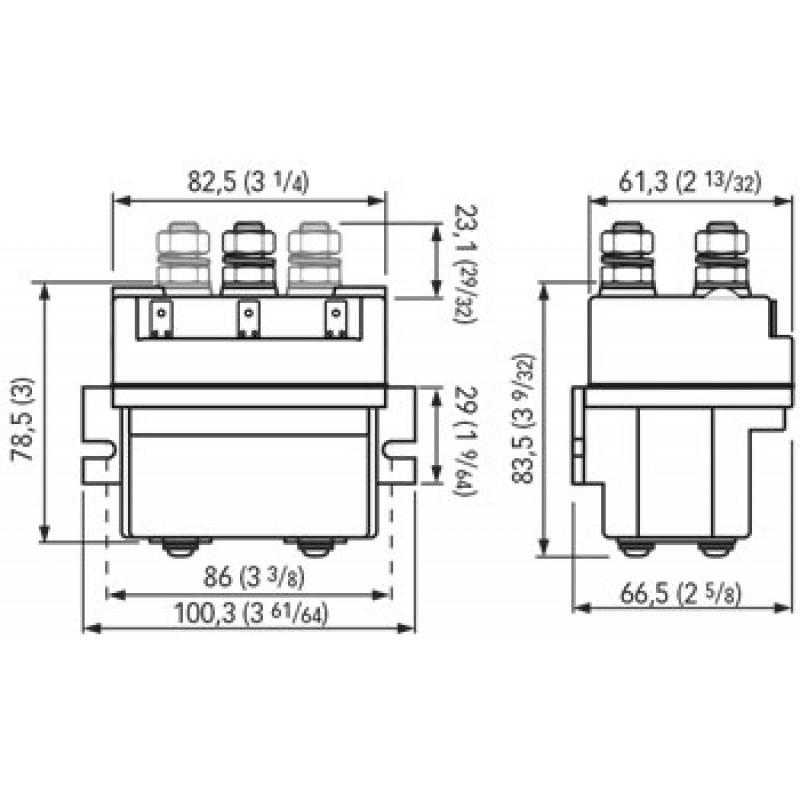 Caja de Control Molinetes Quick 12v x 2500w, 3 terminales