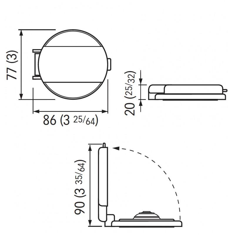 Windlasses foot black switch lid stainless steel drop