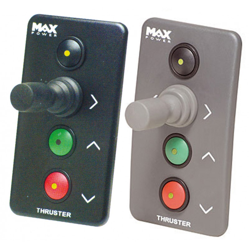 Panel de Control Negro Hélices de Proa MaxPower Retractiles y VIP 150