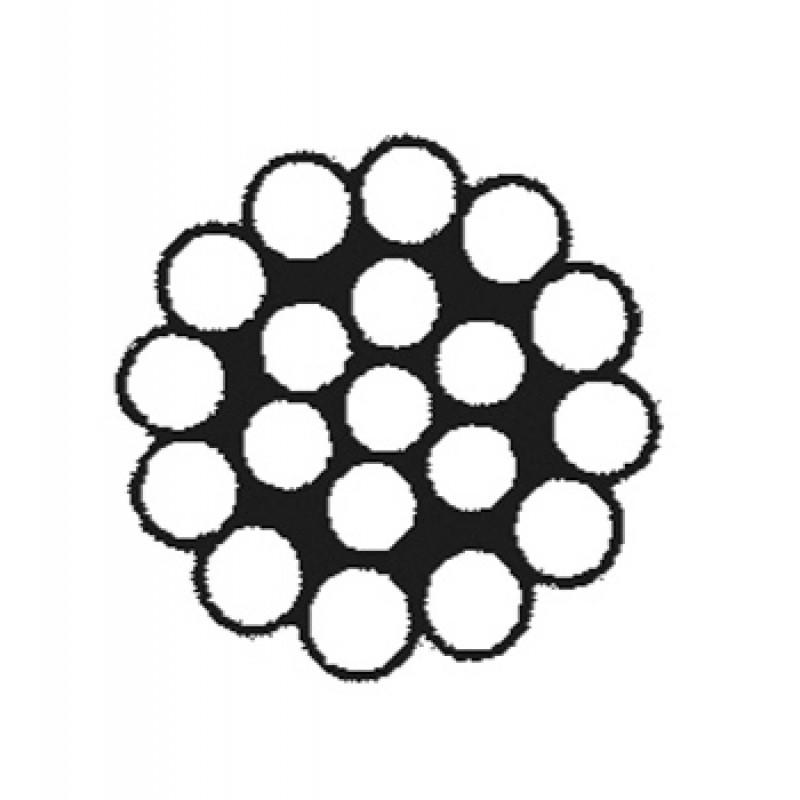 Cable, Cordon Inox 10 mm AISI 316, Composición 1 x19