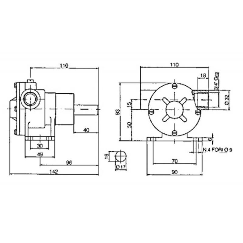 Bomba Refrigeracion Motores Marinos PM 34