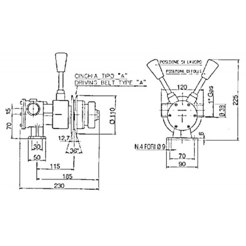 Bomba Refrigeracion Motores Marinos PM 36F