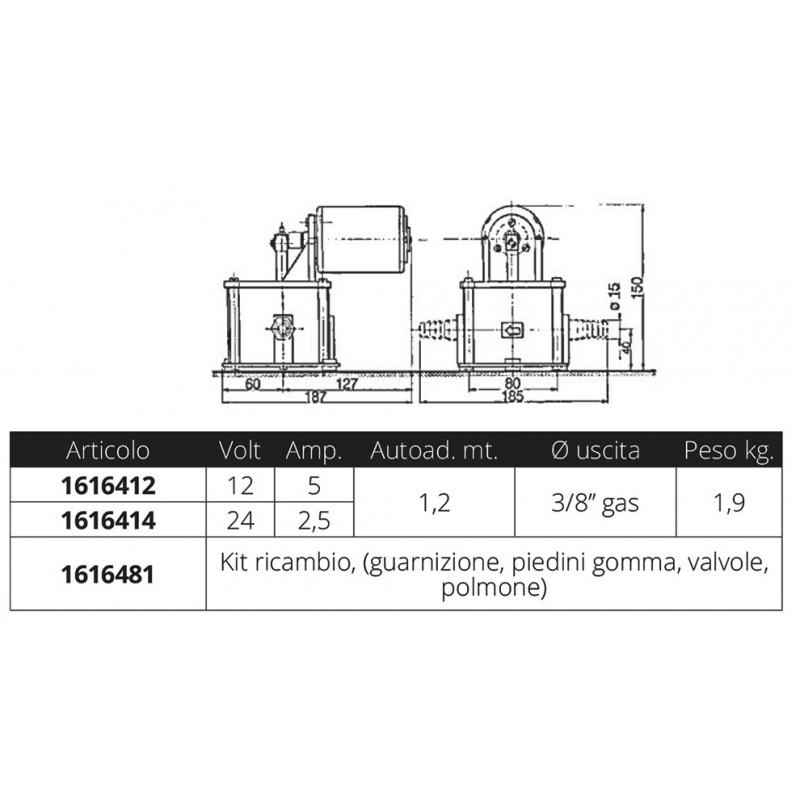 Bomba de Diafragma Ancor PK10 12V