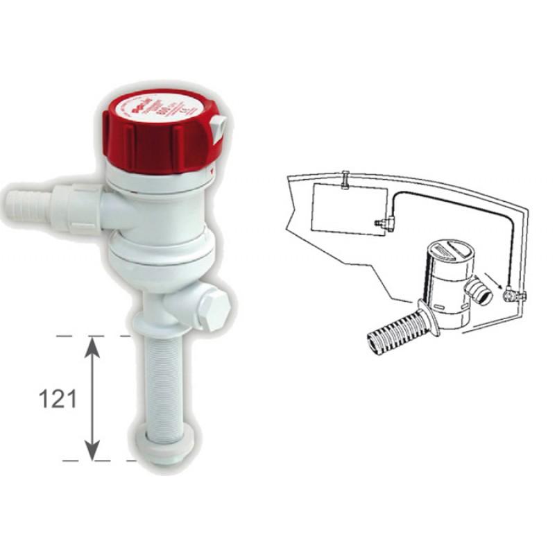 Bomba Rule Recta succión agua del mar 12v x 3028 lt a la hora