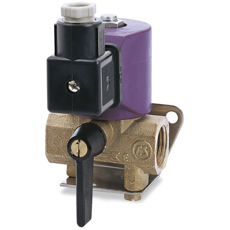 Solenoid valve approved for water or fuel 24V, 600lt/h