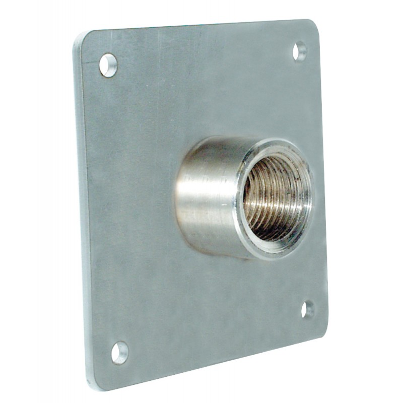 Plate stainless steel for installation water connection 1 1/4