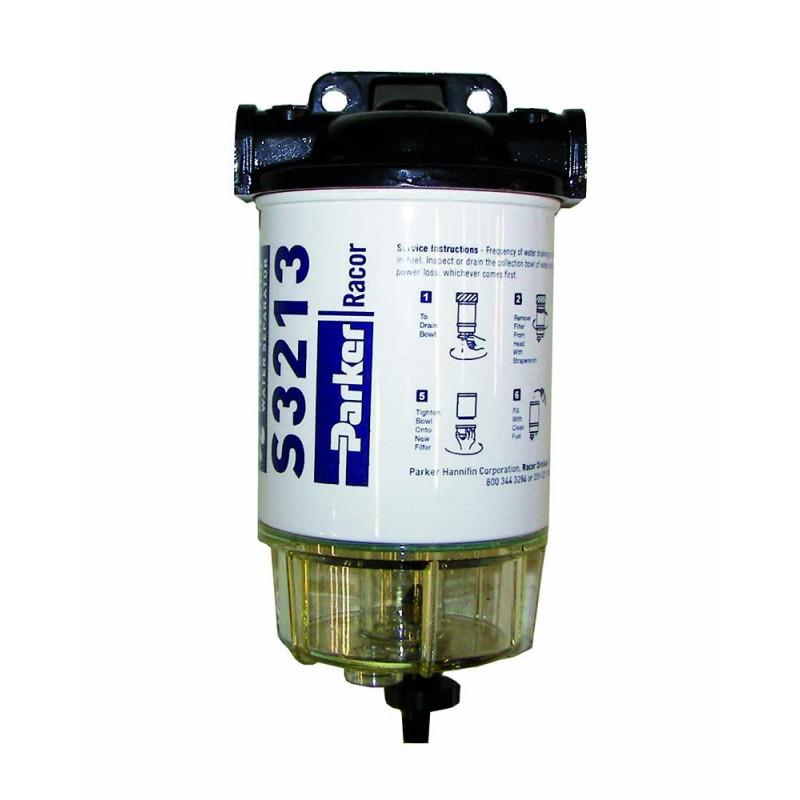 Filtro Nautico universal separador de Gasolina Racor S3213/3220