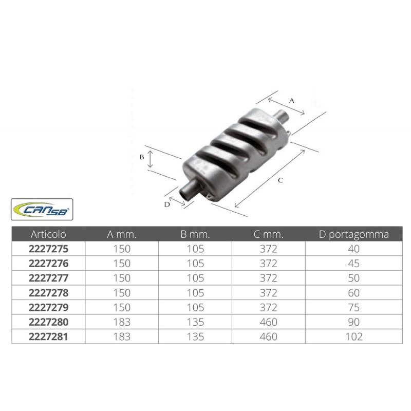 Silenciador Escape Exhaust Muffler Can Sub 90 mm