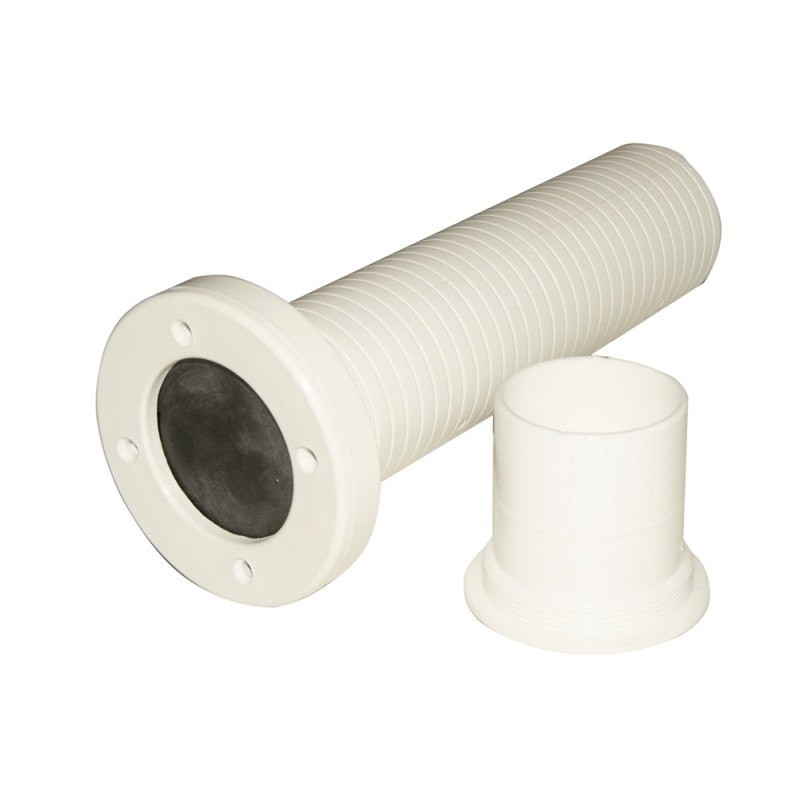55 x 195 mm with non-return valve pvc fitting