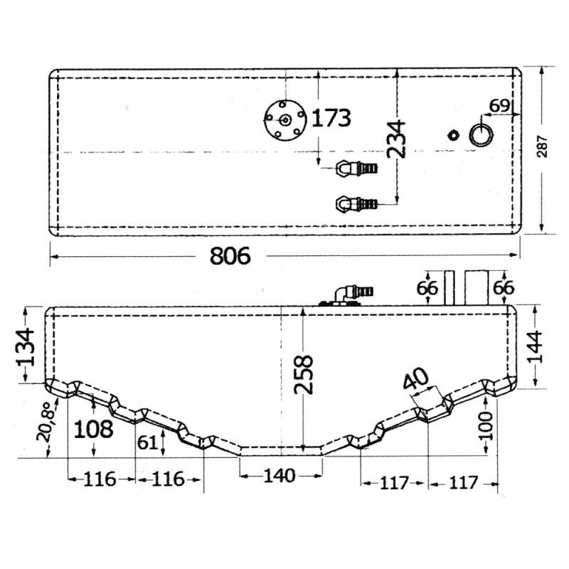 Deposito de Combustible Polietileno, Certificado CE 40lt