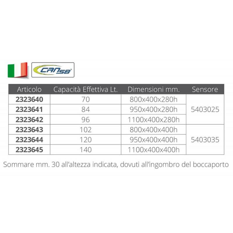 Deposito combustible Fuerabordas 70lt 800x400x280
