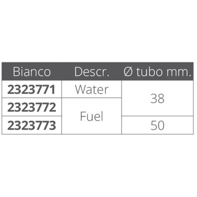 Toma Náutica de combustible plástico Blanco 50 mm