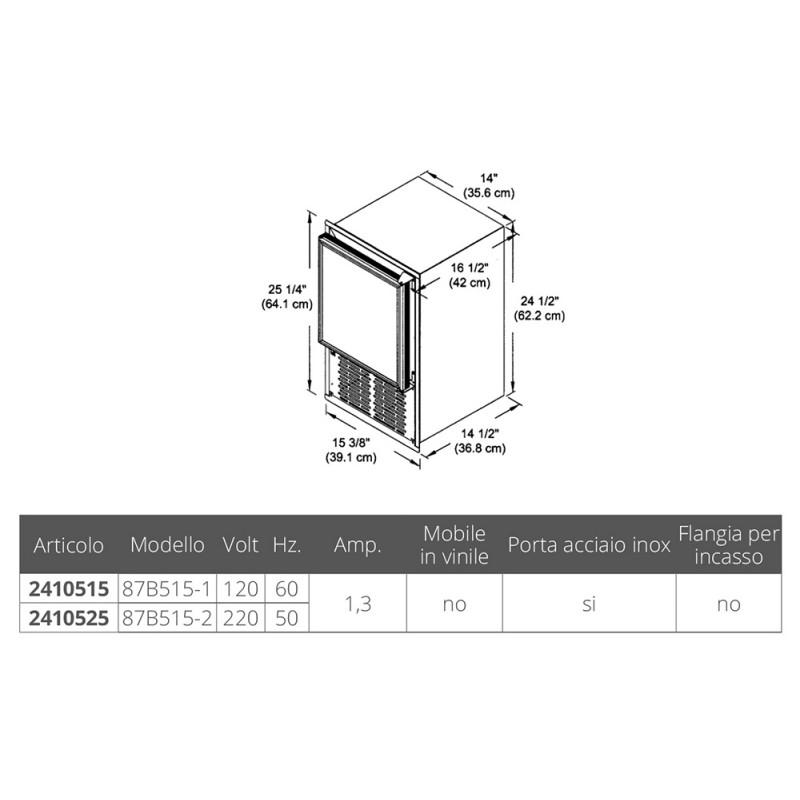 Raritan ICER-ette 87b515-220 v. 50 Hz marine ice machine