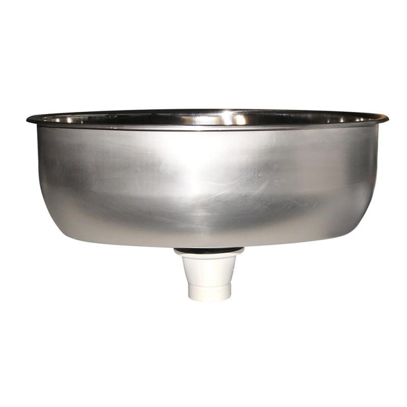 Lavabo inox ovalado 385x265 mm