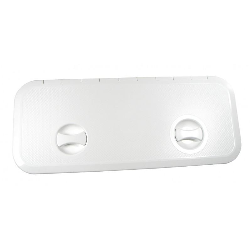 Escotilla Blanca de PVC 607 x 250 mm