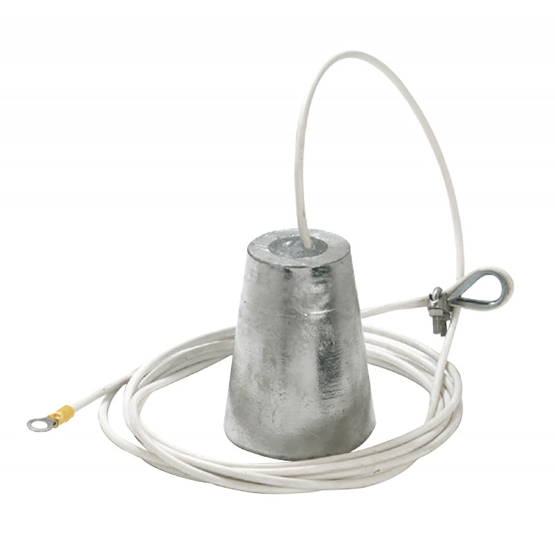 Aluminum Suspended anode 105mm with cable 6mt