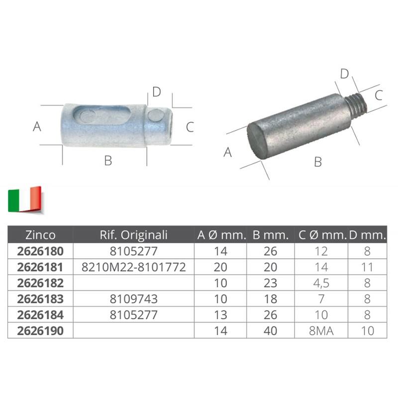Anode cooler, diameter 14mm