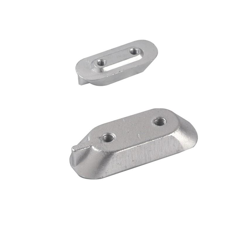 Small plaque aluminium anode for Yamaha 40 HP 4-stroke engine