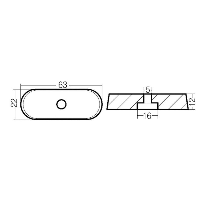 Anodo Yamaha - Mariner 6-8 HP (4T) (ref. or. 68T-45251-00)