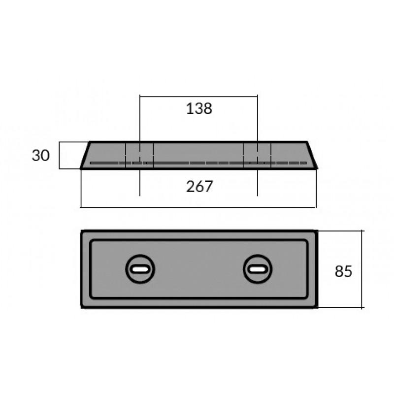 Anode Aluminum bar IPS Duo Prop Volvo Penta 852835