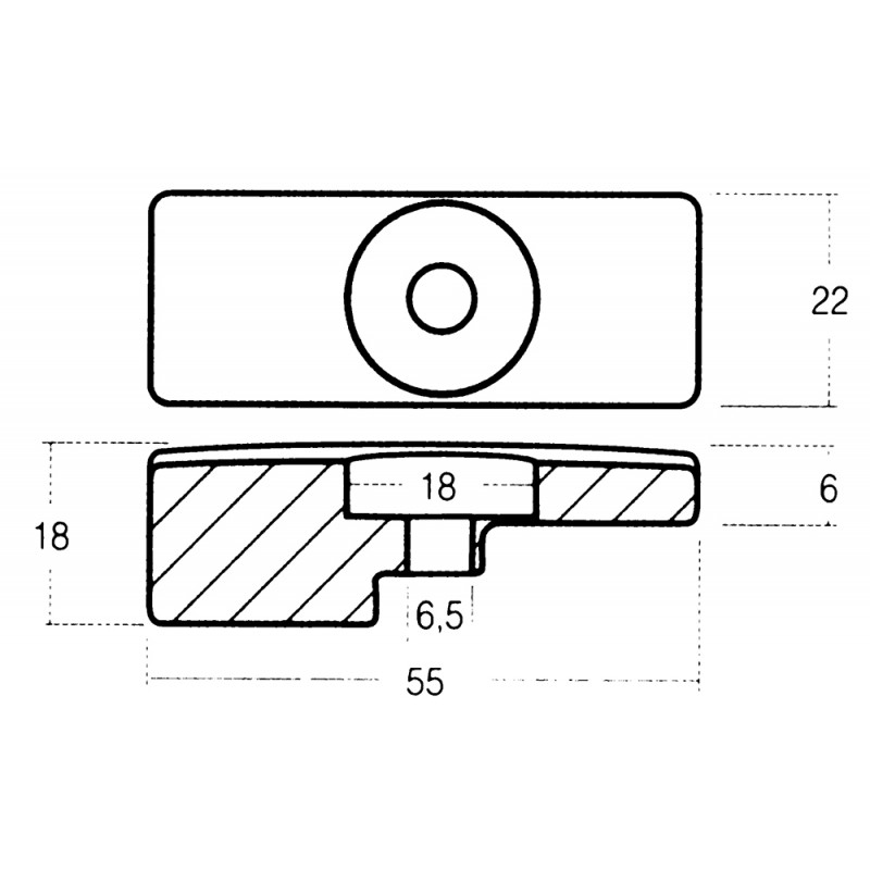 Anodo O. M. C.-Evinrude-Johson 90-115 HP. DF 115-140 (ref. art. 55321-90J01)