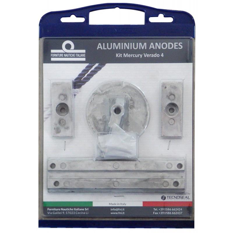 Kit de anodos aluminio Mercury Verado 4 Optimax