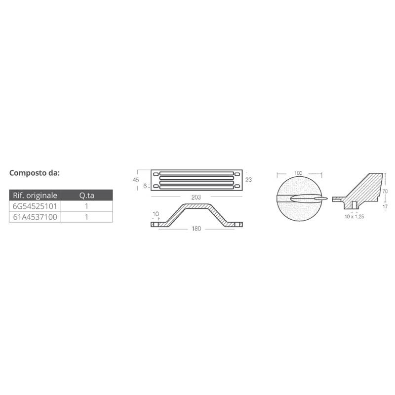 aluminium anodes kit for yamaha 200-250 hp