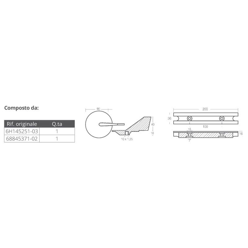 Kit anodos aluminio fuerabordas Yamaha 60-90 HP