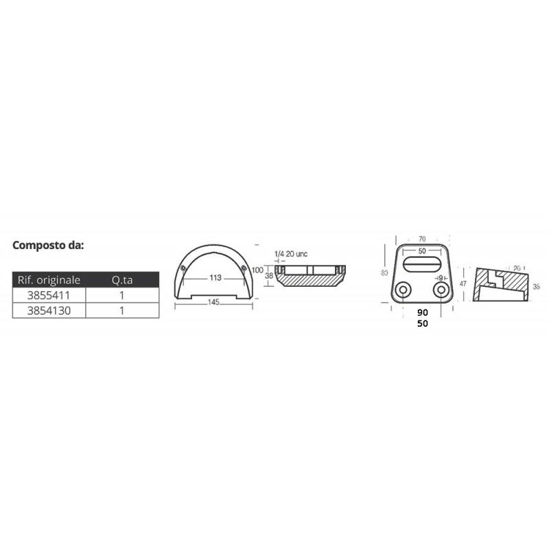 aluminium anodes kit for volvo sx