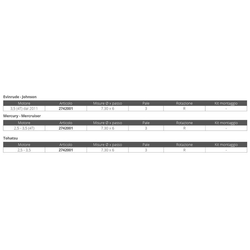 Helice de Plastico Fuerabordas Mercury 2.5 y 3.5 hp -4t