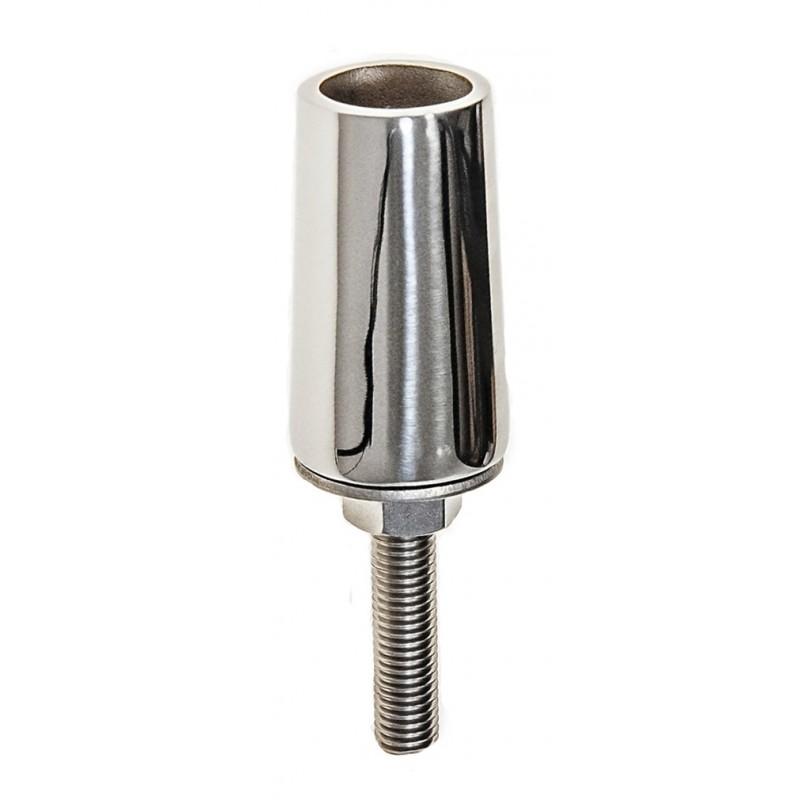 Base Tintero Inox Fundición Recto 90° Tubo 25 mm