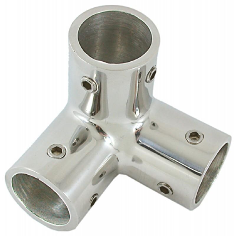 Codo Triple Inox de Fundición para Tubo 22 mm