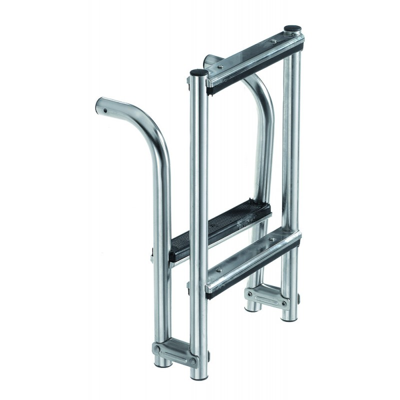Escalera Inox Plegable 3 peldaños 800 x 270 mm