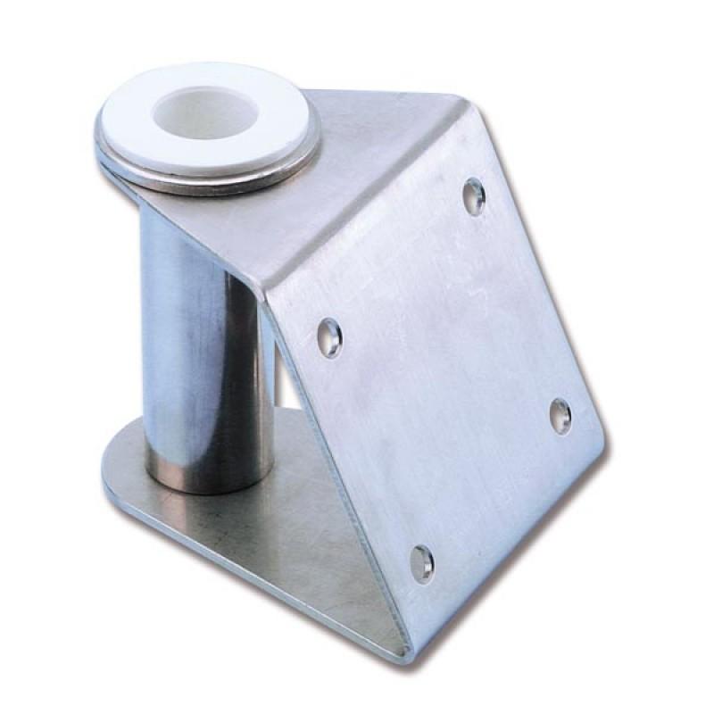 Soporte Inclinado inox 25 mm pasarelas Náuticas