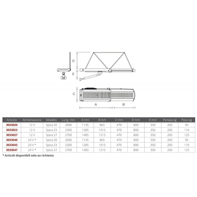 Hydraulic Telescopic Stainless Gangway 24v Spica 20 (2000mm)