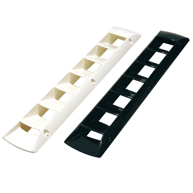 Grille vent type nautical guts ABS white 457 x 87 mm
