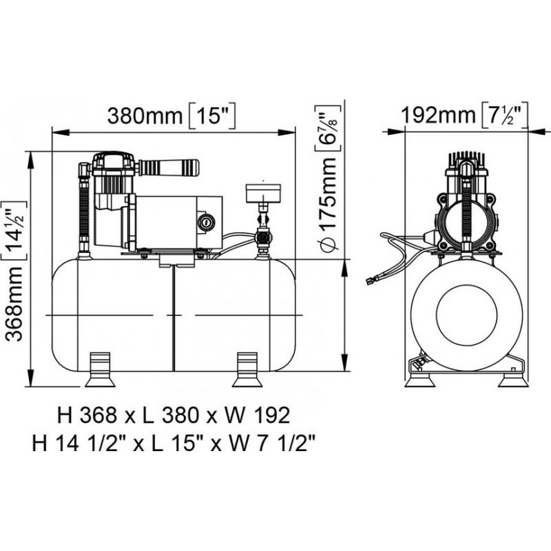 Compresor 24v Marco para Bocinas