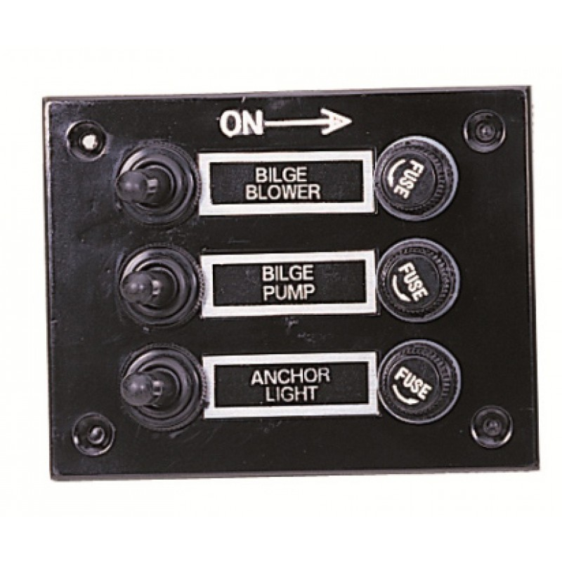 Electric Panel 115 x 88mm with 3 Toggle switches
