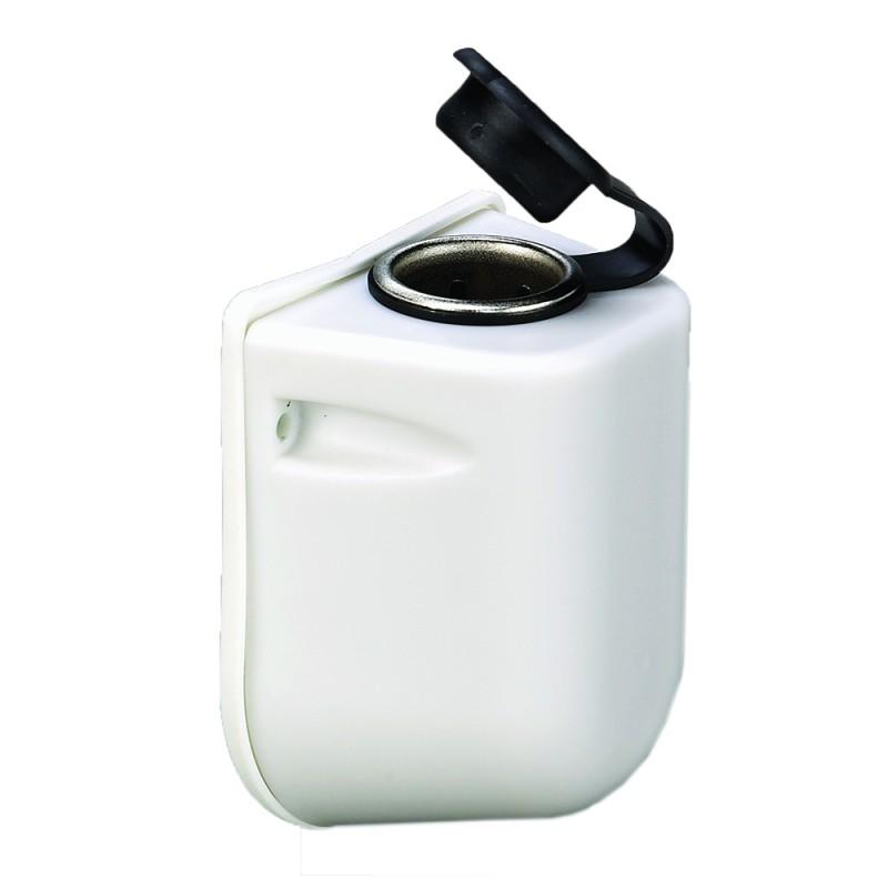 Conector de Mechero exteriores Caja Poliester Blanca 80 x 65 x 43mm