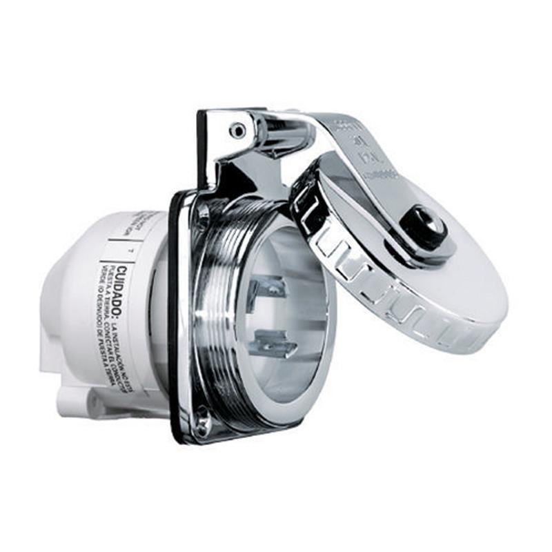 Toma Eléctrica Inox Conexión a Pantalán Hubbell 32 Amp 230 V