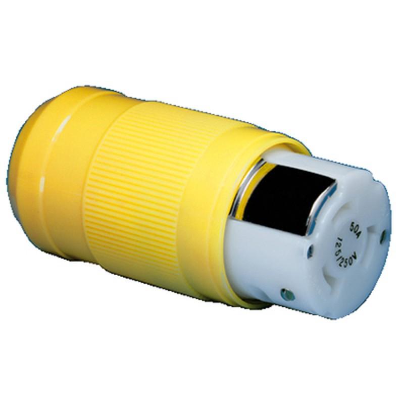 Conector Electrico Pantalan Marinco Hembra 50A, 125/250V