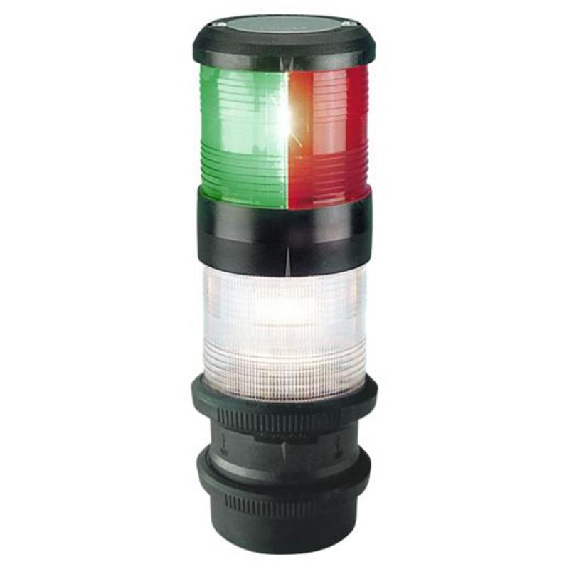 Luz de Navegacion Aquasignal Combinada S40 Tricolor y todo horizonte
