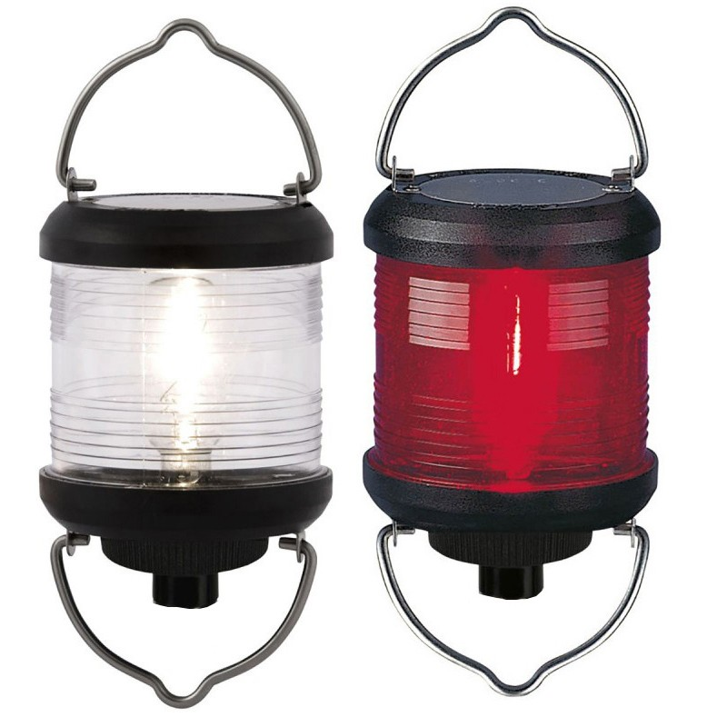 Luz de Navegacion Aquasignal S40, carcasa negra, señal blanca, para colgar